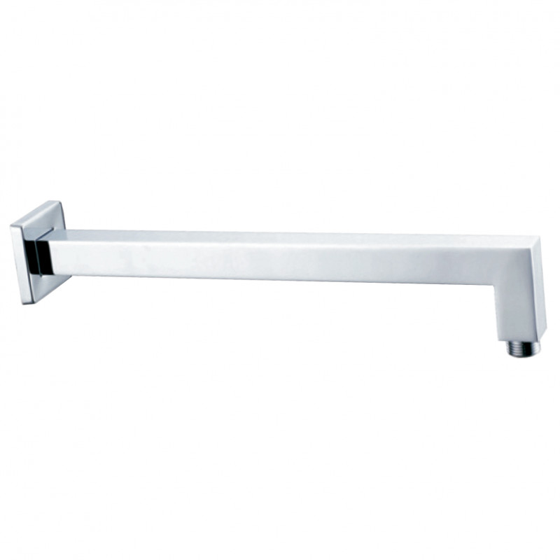 At wall round shower arm