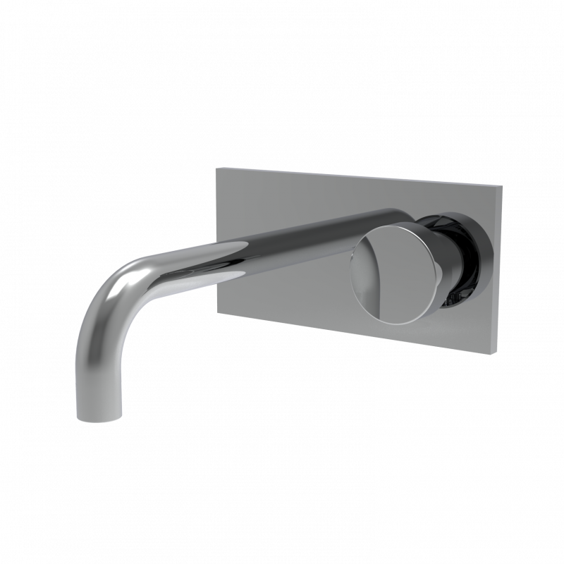 Wall-mounted basin mixer